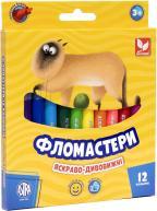 Фломастери конічні 12 кольорів