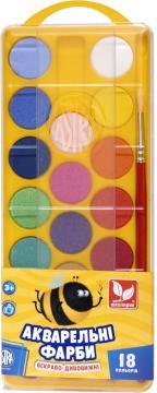 Фарби акварельні 18 кольорів