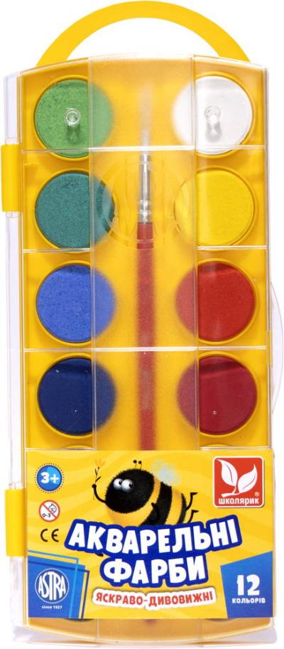 Фарби акварельні 12 кольорів