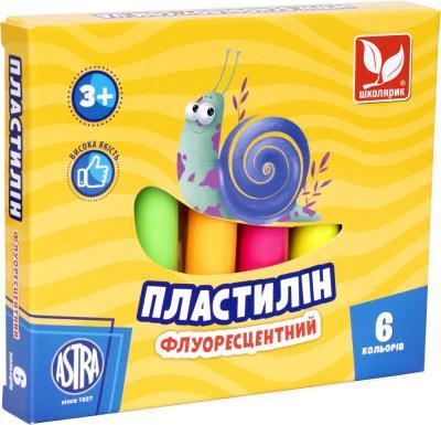 Пластилин флуоресцентный 6 цветов