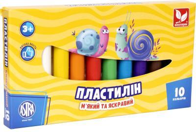 Пластилін круглий 10 кольорів